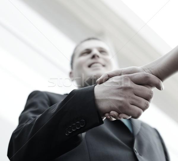бизнеса рукопожатие подписания новых договор Открытый Сток-фото © zurijeta