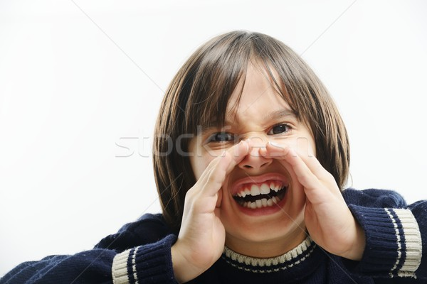 Portrait Of Boy Shouting Stock photo © zurijeta