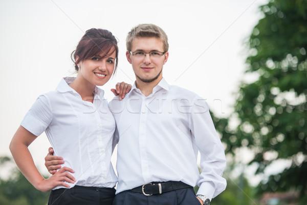 Couple of business people Stock photo © zurijeta