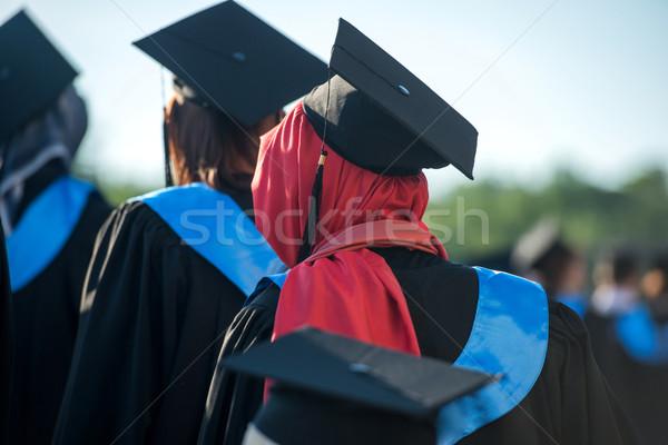 Muslim woman graduating Stock photo © zurijeta