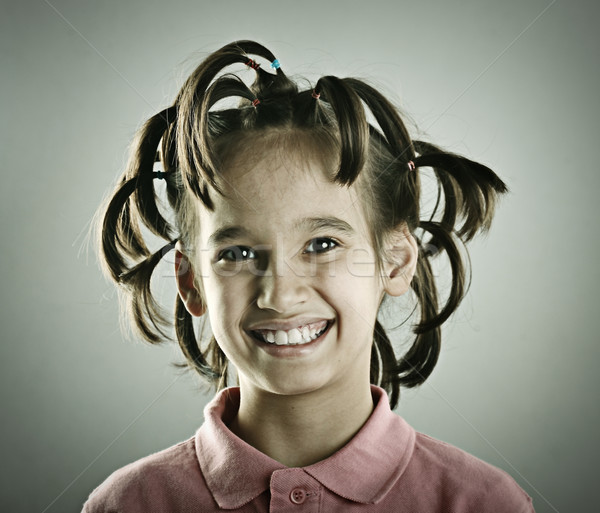 Funny portrait of kid with hair style Stock photo © zurijeta