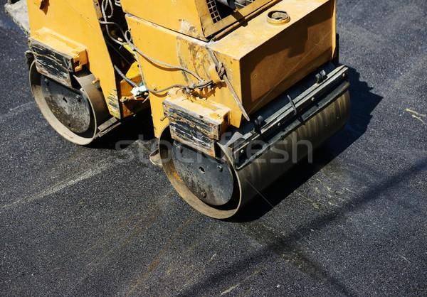Duro lavoro asfalto costruzione uomini lavoro strada Foto d'archivio © zurijeta