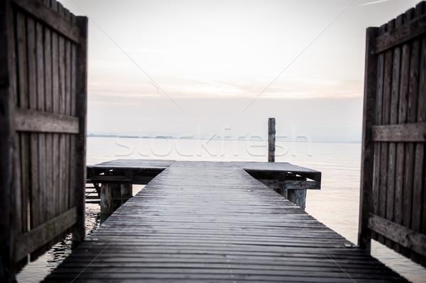 Lake dock Stock photo © zurijeta