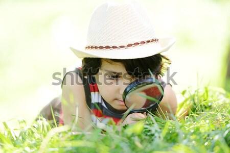 Child playing tennis Stock photo © zurijeta