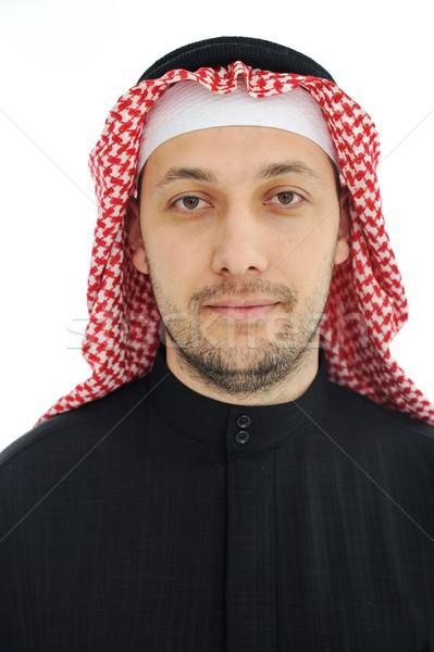 Férfi visel arab közel-keleti hagyományos ruházat Stock fotó © zurijeta