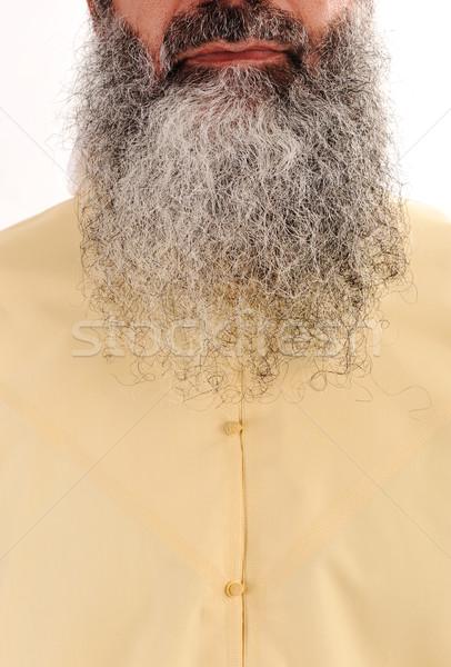 Lang baard gezichtshaar kijken hart Stockfoto © zurijeta