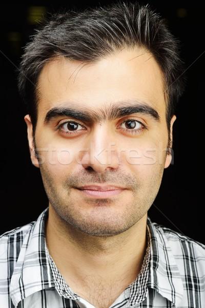 Stock fotó: Közel-keleti · fiatalember · portré · autentikus · arc · férfi