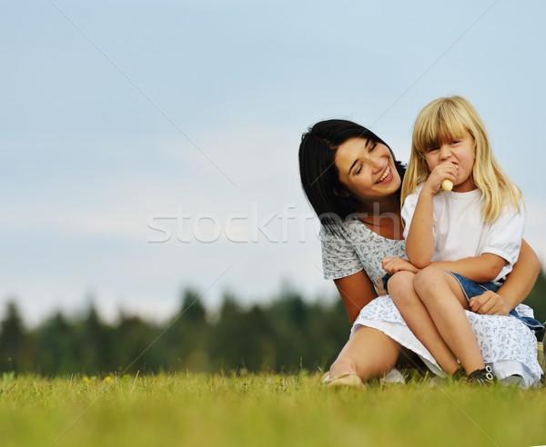 Stock fotó: Boldog · család · természet · szórakozás · boldog · fiatal · anya