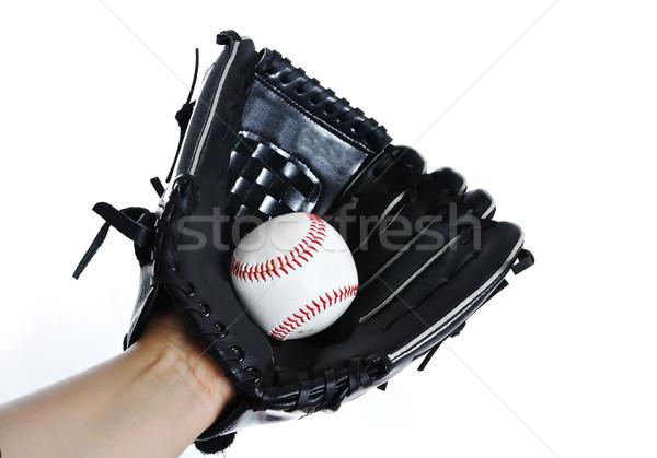 Baseball glove and ball Stock photo © zurijeta