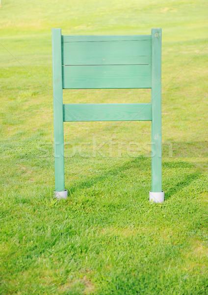 Bericht groen gras veld boord voorjaar Stockfoto © zurijeta