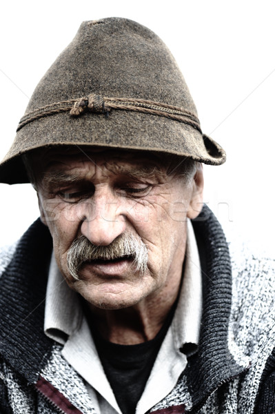 Very Nice Image of a Lonely Old man Stock photo © zurijeta