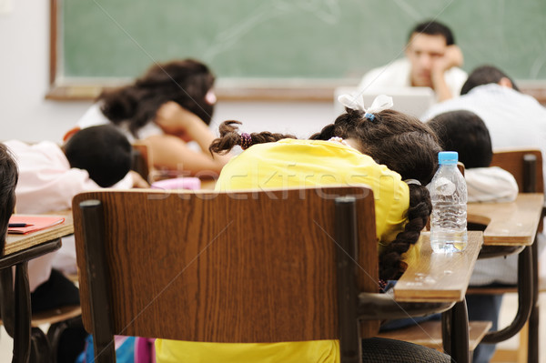 Education activities in classroom at school, sleeping all Stock photo © zurijeta