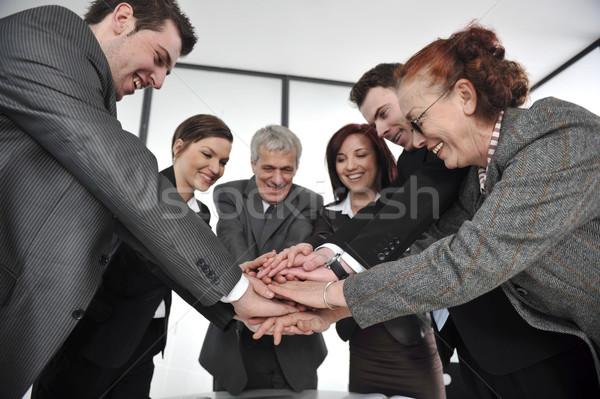 İş ortaklarımız eller üst diğer birlik iş Stok fotoğraf © zurijeta