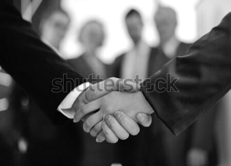 Immagine business partner stretta di mano firma contratto business Foto d'archivio © zurijeta