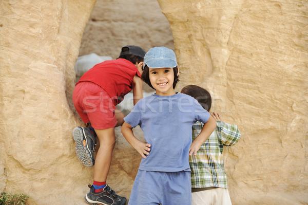 лет туристических отпуск детей играет вокруг Сток-фото © zurijeta