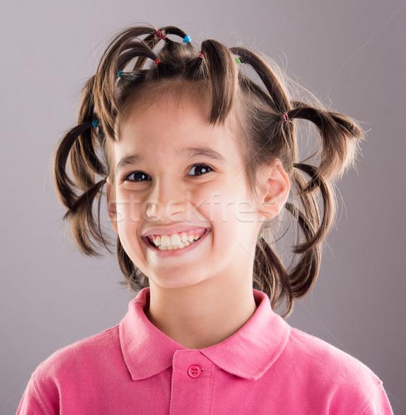 Portré vicces aranyos kicsi fiú klassz Stock fotó © zurijeta
