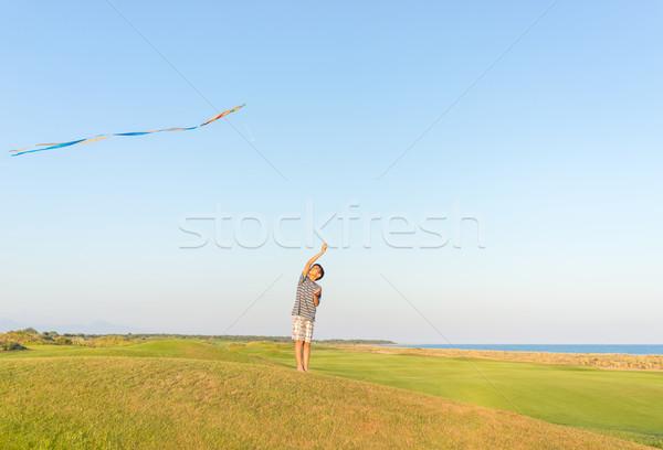 Corrida pipa férias de verão férias perfeito prado Foto stock © zurijeta