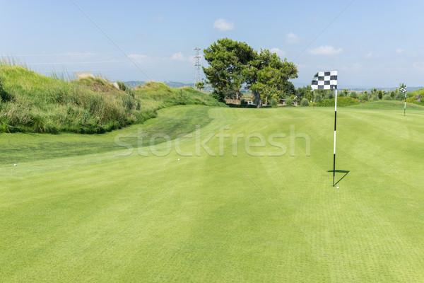 ゴルフコース 水 ゴルフ 自然 風景 緑 ストックフォト © zurijeta