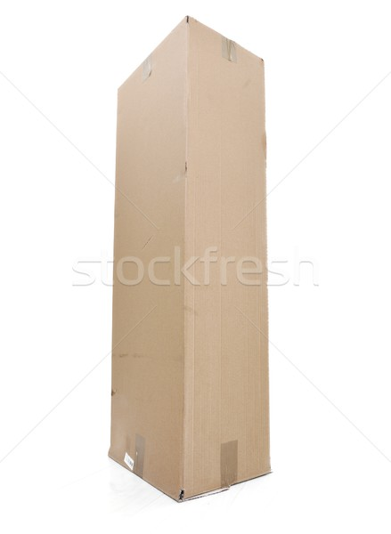Paper box for packaging isolated Stock photo © zurijeta