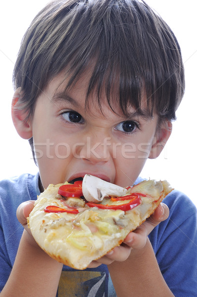 Italian pizza with many colors and ingredients Stock photo © zurijeta