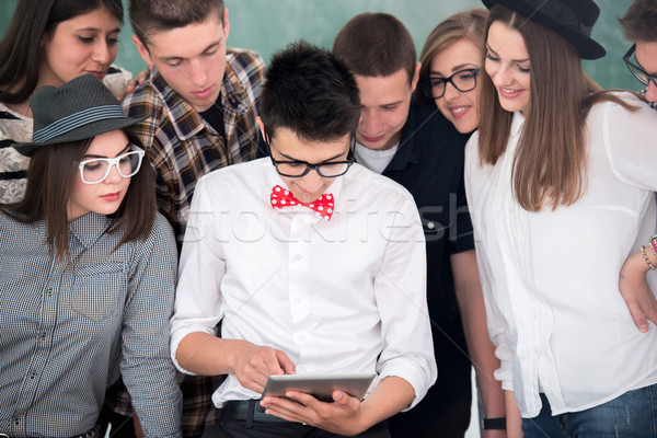 Student with tablet Stock photo © zurijeta
