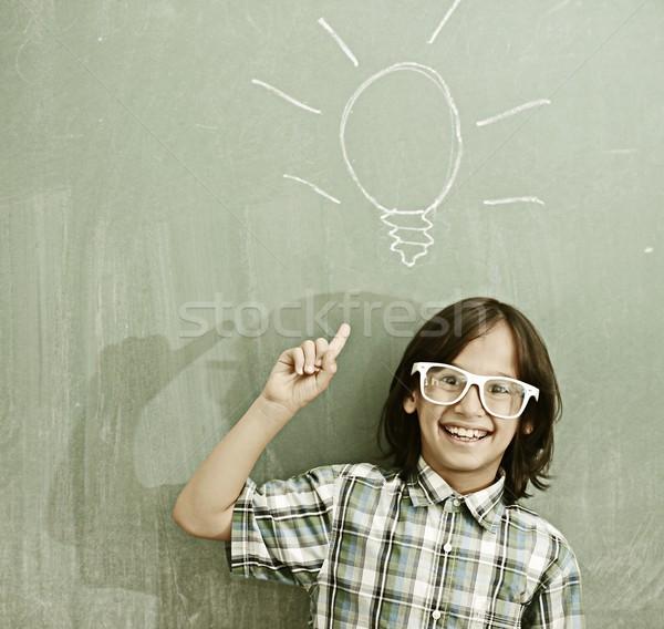 Ativo real crianças sala de aula escolas lição Foto stock © zurijeta