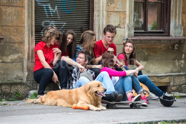 Adolescents leisuring Stock photo © zurijeta