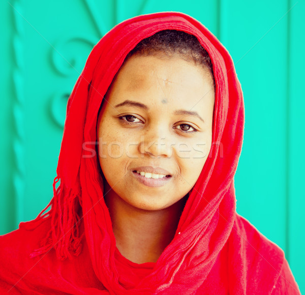 African Arabian girl Stock photo © zurijeta
