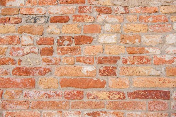 Brick wall in old city Venice Italy Stock photo © zurijeta