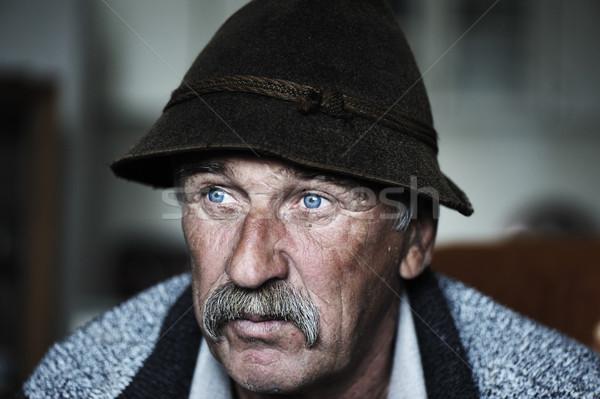 портрет старик усы природы пожилого человек Сток-фото © zurijeta