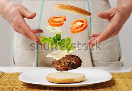 Making hamburger ingredients concept Stock photo © zurijeta