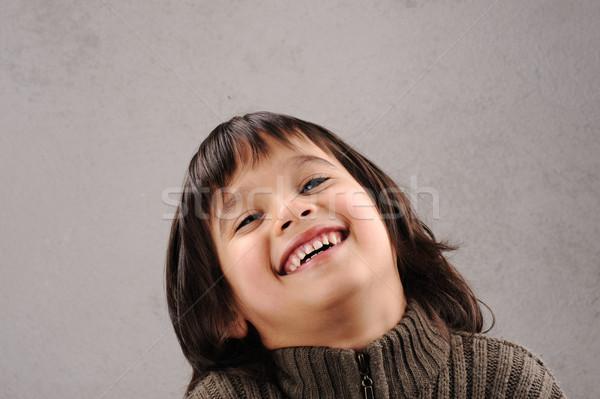 школьник умный Kid лет старые мимике Сток-фото © zurijeta
