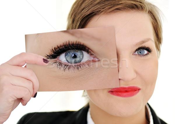 商業照片: 女子 · 眼 · 業務 · 肖像 · 滑稽