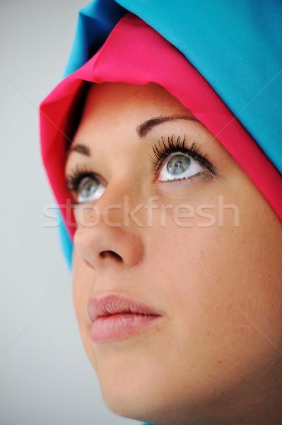 Müslüman kız başörtüsü Stok fotoğraf © zurijeta