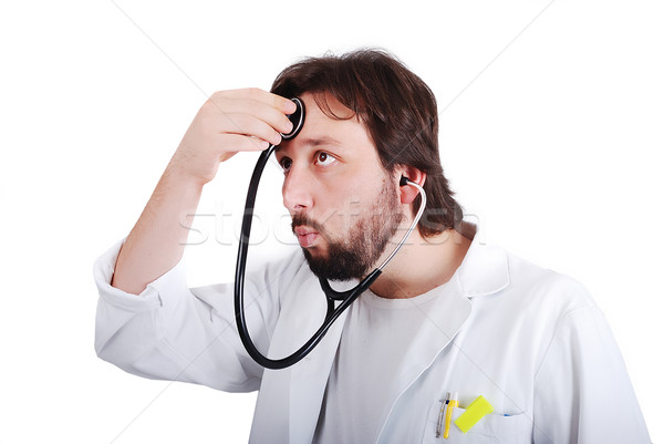 Young male doctor is taking care of himself Stock photo © zurijeta