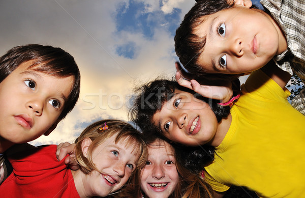 Small group of happy children outdoor Stock photo © zurijeta