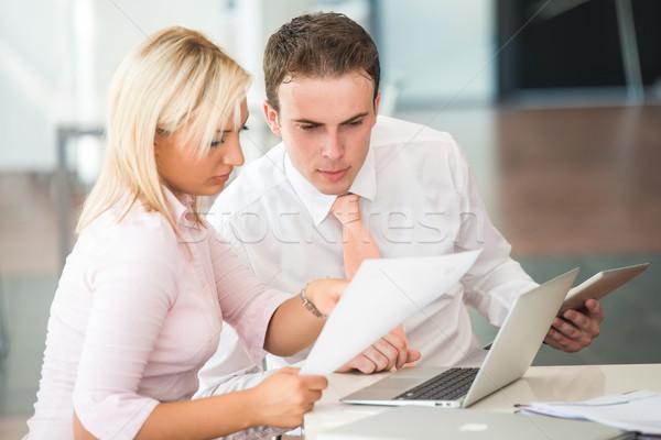 Two business people Stock photo © zurijeta