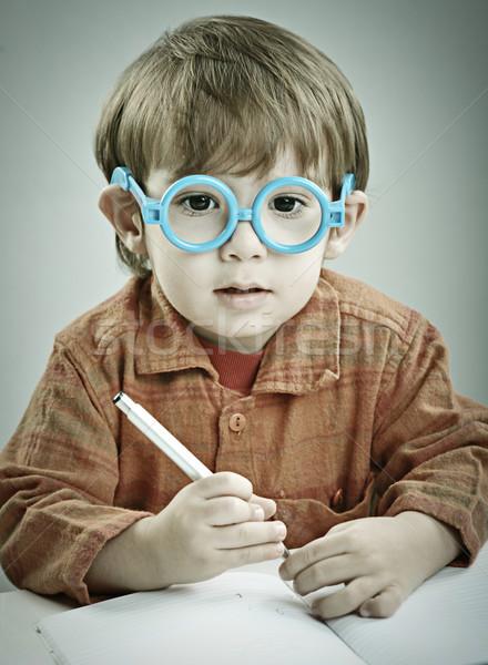 Bebé dos año edad posando pasado de moda Foto stock © zurijeta