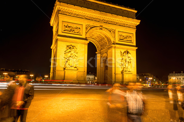 Long exposure of Arc de Triumph Stock photo © zurijeta