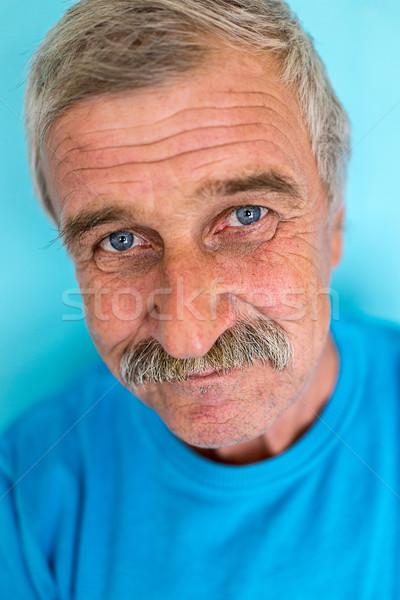 Portrait souriant homme mûr moustache âgées bonne recherche Photo stock © zurijeta