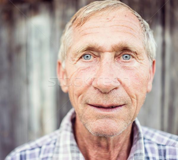 старший человека улице портрет здоровья фон Сток-фото © zurijeta