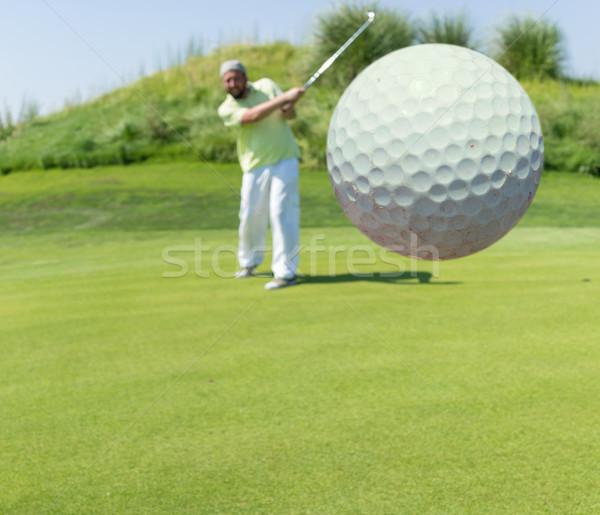 Di successo uomo giocare golf club natura Foto d'archivio © zurijeta