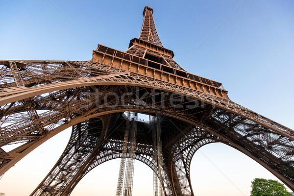 Eyfel Kulesi Paris Fransa seyahat kentsel mimari Stok fotoğraf © zurijeta