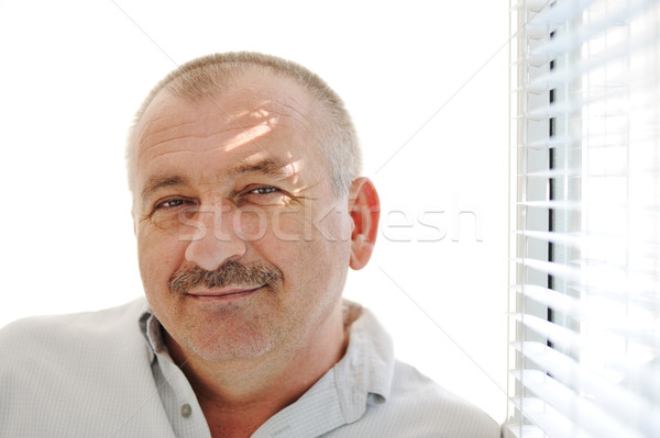 Senior man indoor Stock photo © zurijeta