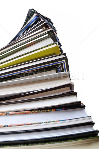 Stockfoto: Boeken · geïsoleerd · witte · student · recht