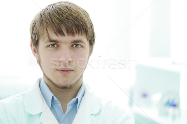 Portrait of young researcher in the lab, hospital worker Stock photo © zurijeta
