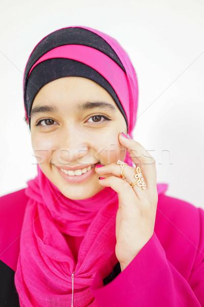 красивой молодые мусульманских девушки хиджабе моде Сток-фото © zurijeta