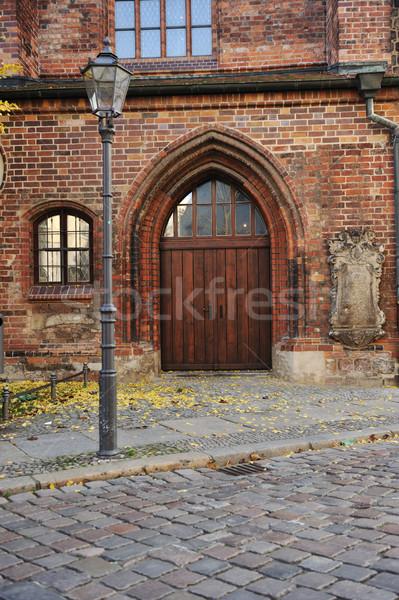 Puerta calle Berlín edad público edificio Foto stock © zurijeta
