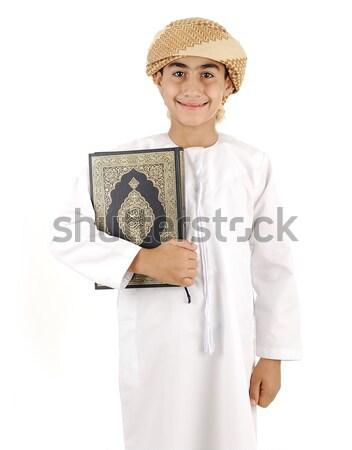Arab fiú izolált mosoly iskola gyermek Stock fotó © zurijeta