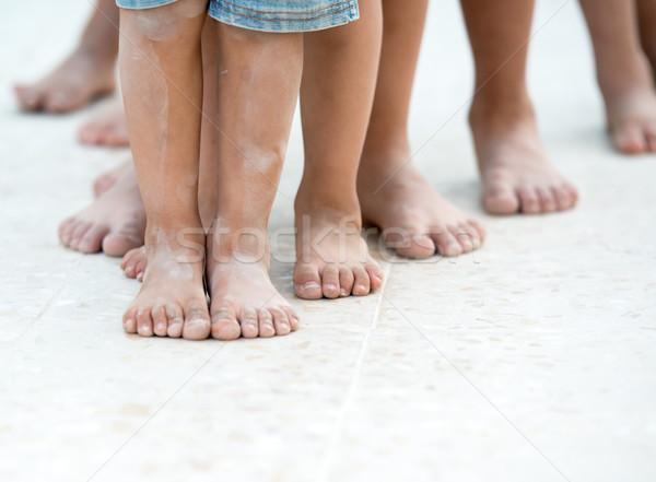 Children feet Stock photo © zurijeta